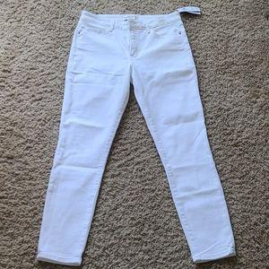 NWT Abercrombie white mid skinny denim jean 29 8 s